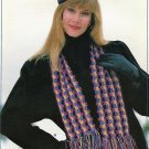 Annie's Attic 87H41 Cold Weather Warmers Hats Scarves Crochet Patterns