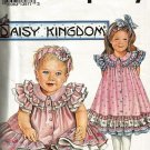 Simplicity 8385 Daisy Kingdom Ruffled Trimmed Dress for Little Girls Sizes 1/2 to 3