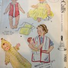 1950's Baby Doll Wardrobe Pattern McCall's 1900  Suitable for Tiny Tears, Dydee, Kathy