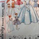 Vintage SIMPLICITY 4510 Bridal Gown Trousseau Teen Dolls 1950S
