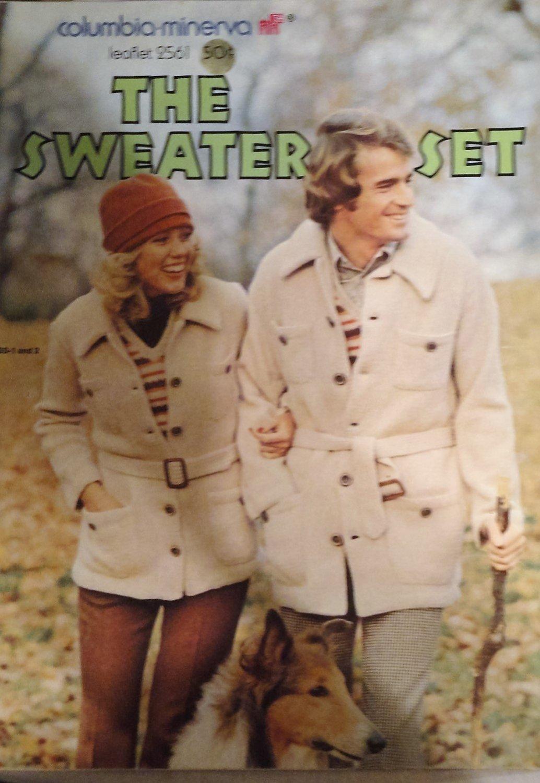 Columbia MInerva The Sweater Set Knitting Pattern leaflet 2561