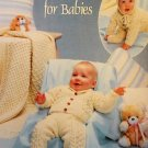 Fisherman Crochet for Babies Leisure Arts 2793 Aran patterns for afghan sweater bonnet