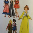 "Simplicity 9697 Doll Clothes sewing pattern for 11 1/2"" fashion doll"