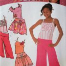 Simplicity 4264, Girls Tops, Skirt and Cropped Pants, Size 8 to 16
