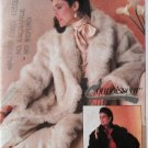 Simplicity 7078 pattern misses Lined or Unlined FAKE FUR Coat Sz Med UNCUT