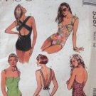 McCall's pattern 5387 misses swimsuit uncut strap variations Size 10