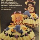 Mary Quite Contrary Bed Doll Gown Crochet Pattern  Fibre Craft FCM165
