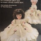Cinderella Pillow Doll Bed Doll  Crochet Pattern  Fibre Craft FCM163