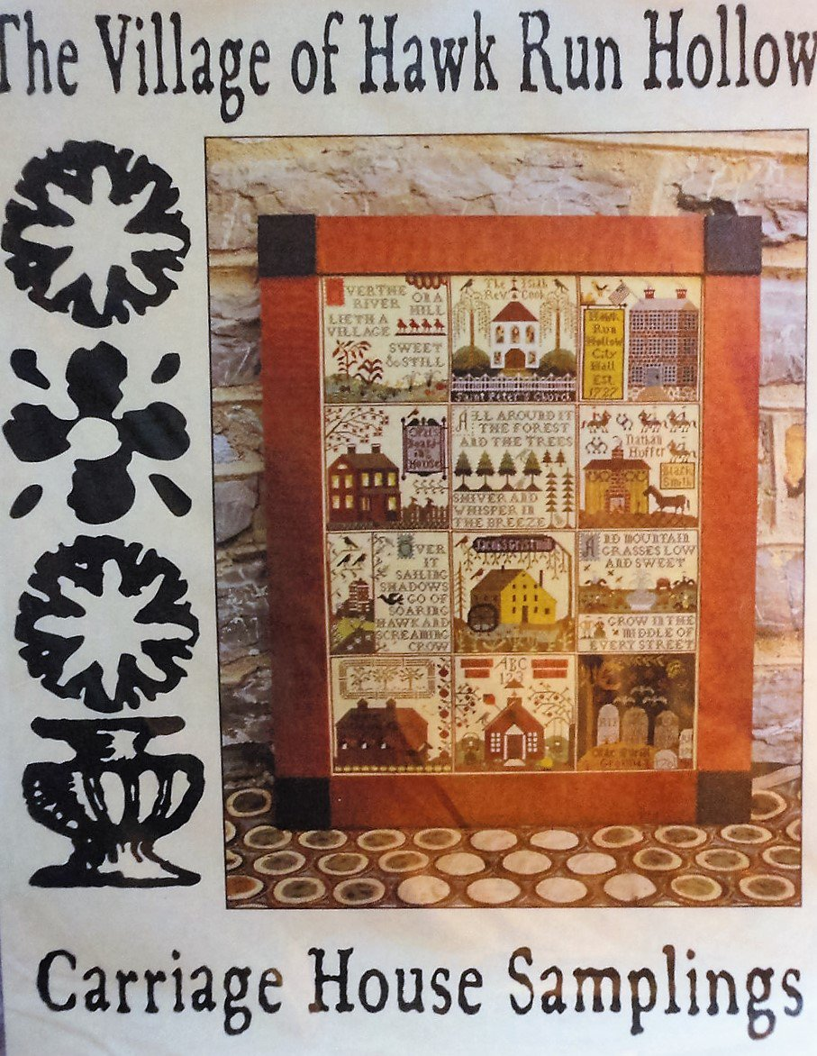 Carriage House Samplings The Village of Hawk Run Hollow Cross Stitch Chart