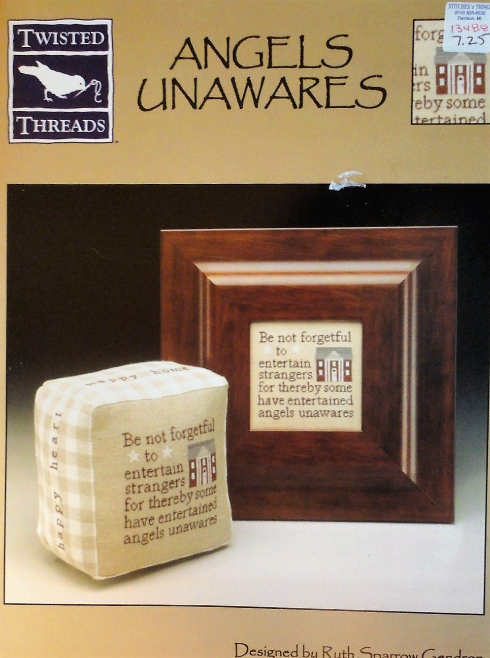 SOLD OUT! Twisted Threads Angels Unawares Cross Stitch Chart Designed by Ruth Sparrow Gendron