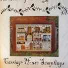 Carriage House Samplings The Houses of Hawk Run Hollow Primitive Sampler Cross Stitch Chart