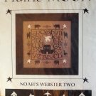 Prairie Moon Noah's Webster Two Primitive Sampler Cross Stitch Chart