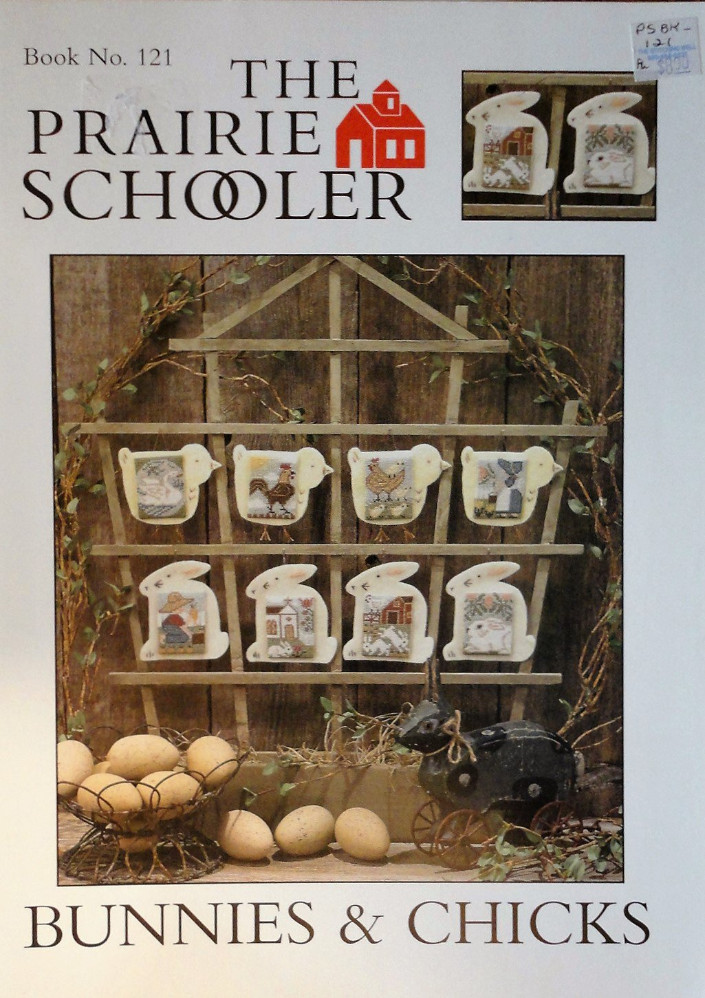 The Prairie Schooler No. 121 Bunnies & Chicks Cross stitch chart pattern