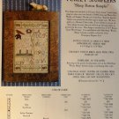 The Homespun Elegance Sampler cross stitch chart Sheep Button Sampler (Chart only)