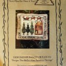 Homespun Elegance Ornament cross stitch chart Santa Flies But Once A Year Sandra Sullivan 3 charms