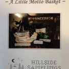 Cross Stitch Chart / Pattern Hillside Samplings - A Little Motto Basket