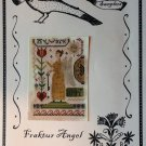 NOT FORGOTTEN FARM Fraktur Angel Primitive Sampler Cross Stitch Chart