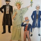 McCall's 8701 Child size 8, 10 Uncle Sam, Abraham Lincoln, George Washington and Statue of Liberty