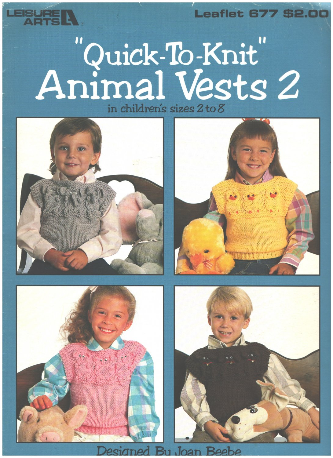 Leisure Arts 677 Quick to Knit Animal Vests 2 Designed by Joan Beeb