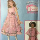 Simplicity 4718 Daisy Kingdom Girl's dress and capulet sizes 3-6