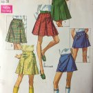 "Simplicity 8397 Vintage Skirt in two lengths & Scooter Skirt Sewing Pattern waist 27"" hip 38"""