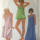 Simplicity 6697 Baby Doll Pajamas and Night Gowns Sewing Pattern sizes 18-20