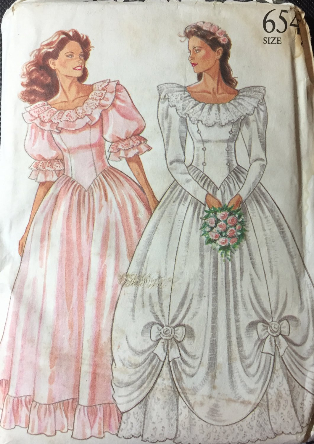 New Look 6543 Princess Gown wedding, Bridesmaid Dress prom, costume  Size 6-18
