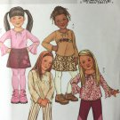 Butterick 4277  Children's Girls' Top Skirt Pants Belt Size 6 7 8