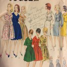 VOGUE Pattern 3018 Vintage Shirtwaist 1950s Dress UNCUT Size 18 Bust 38 Hips 40