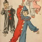 Advance 707 Vintage child clown costumes sewing pattern Size Small 2-4