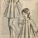 Vintage Mail Order Child's Coat, Dress Sewing Pattern 8324 Size 4 years