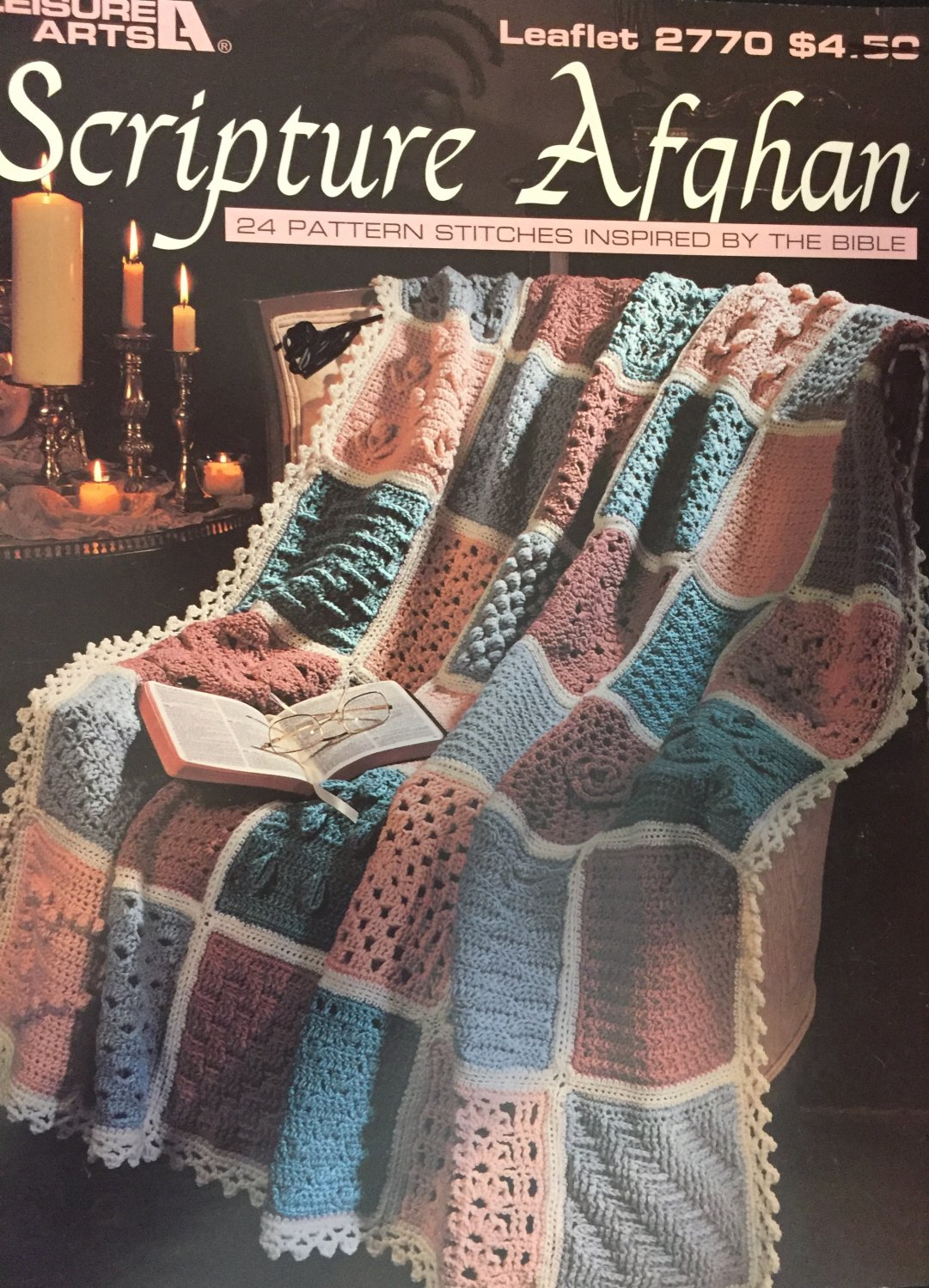 Scripture Afghan 24 Pattern Stitches Inspired by the Bible Leisure Arts Leaflet 2770
