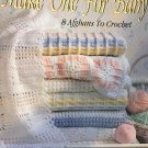 Make One for Baby Afghans Leisure Arts 2756 Eight designs by Carole Rutter Tippett