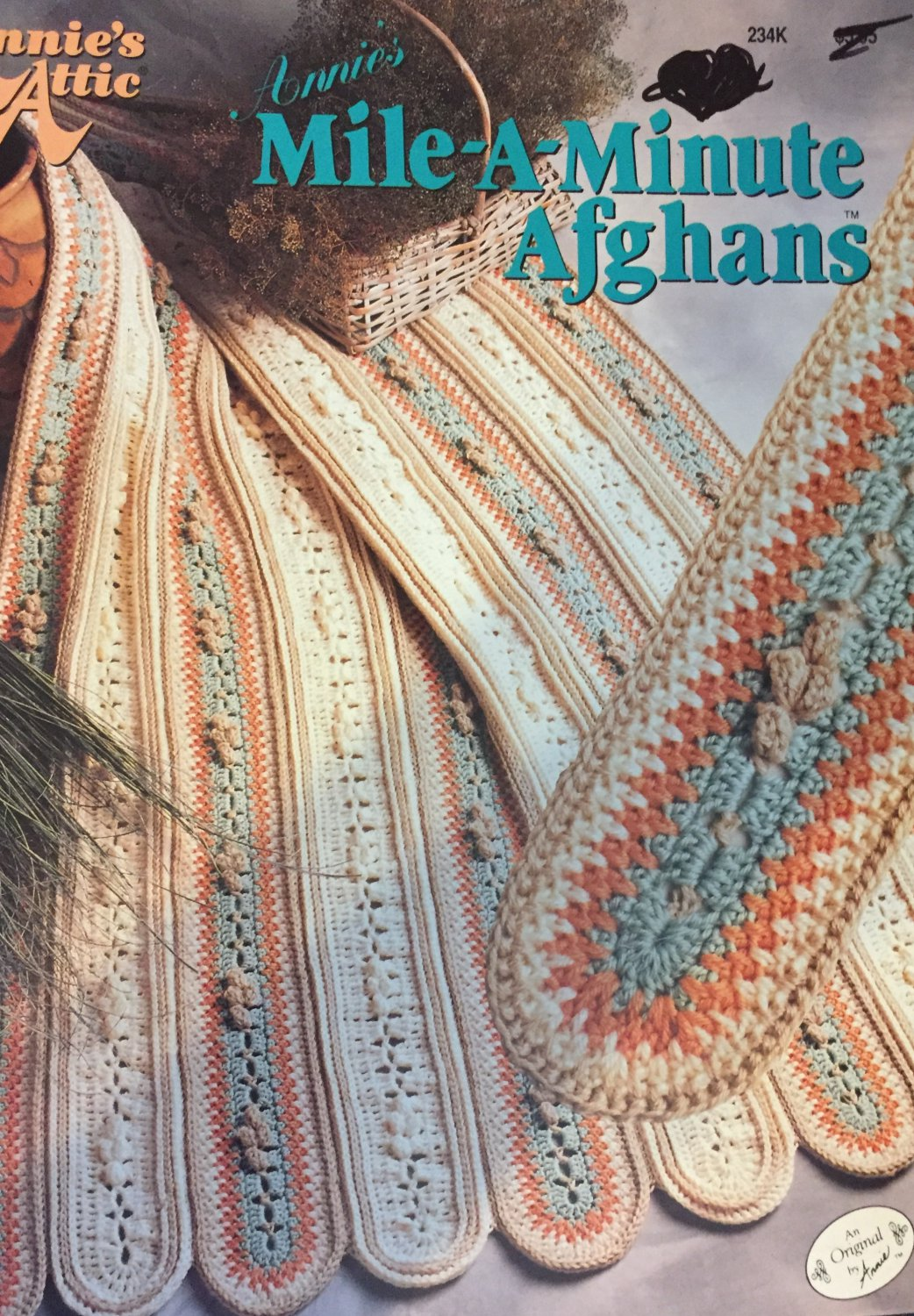 Annie's Attic Mile-a-minute Afghans Crochet Pattern Booklet  234K