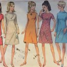 Simplicity 7199 A-Line Retro Dress Pattern Size 14 Bust 34