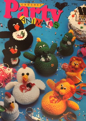 Annie's Attic Party Animals Favor containers 87P87 crochet pattern