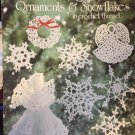 Christmas Ornaments & Snowflakes thread crochet pattern From American School of Needlework