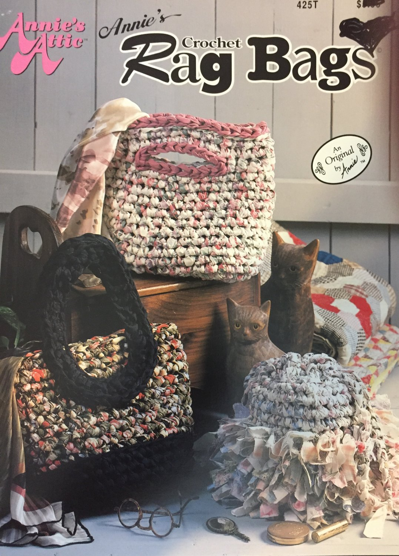 Annie's Attic  425T Crochet Rag Bags Pattern