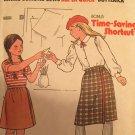 Butterick 6650 Girls Dirndl Wrap Skirt Sewing Pattern Size 8 - 12  Marie Osmond Vintage 70s