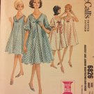 McCall's 6826 Misses' and Junior Night Gown and Robe Vintage Sewing Pattern Size 16