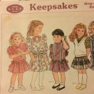 "SUNRISE DESIGNS #C176 ""KEEPSAKES"" DROP WAISTED DRESSES SEWING PATTERN - CHILDS SIZES :4 - 5 - 6 - 7"