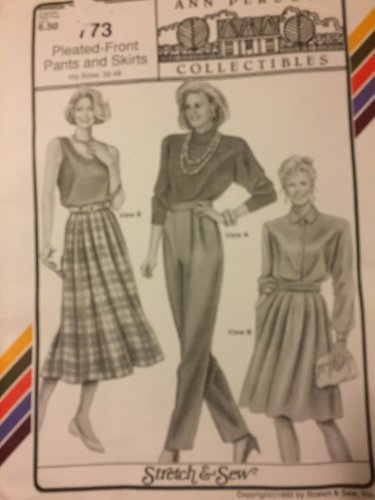 Stretch and Sew 773 pants and skirt  Ann Person knit fabrics Sewing Pattern Hip sizes 32 - 48