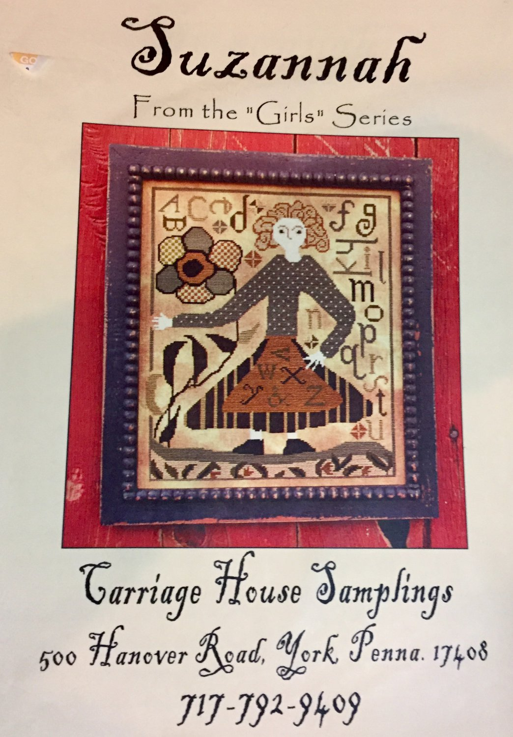 Suzannah by Carriage House Samplings Counted Cross Stitch Pattern