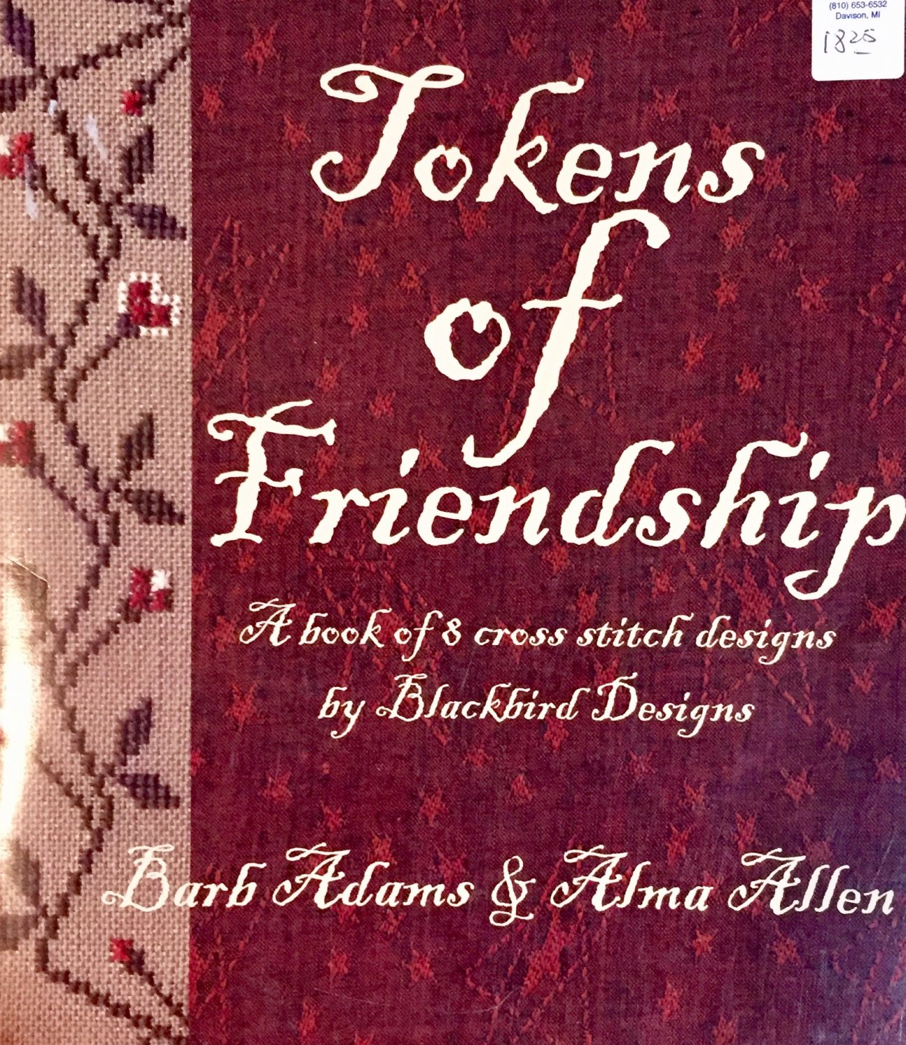 Tokens of Friendship Blackbird Designs Cross Stitch Pattern Booklet 8 designs Barb Adams Alma Allen
