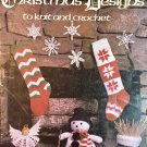 Leisure Arts 129 Christmas Designs to Knit and Crochet, stockings, snowflakes, angels