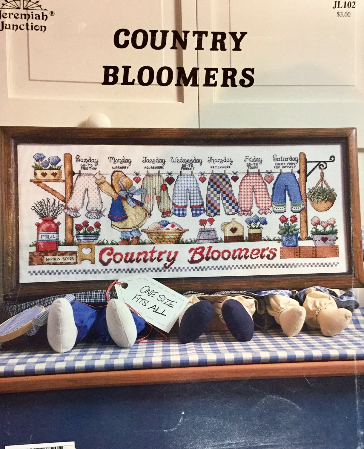 Country Bloomers Cross Stitch Chart Jeremiah Junction JL102 SOLD OUT
