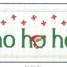 HO HO HO Little Memories Smocking Plate Santa Claus #161 Sewing Smocking design