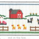 And on This Farm Little Memories Smocking Plate Cows Ducks Pigs #164 Sewing Smocking design