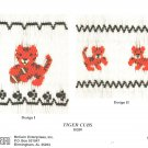 Tigers Ellen McCarn Smocking Plate Football Mascot #10209 Sewing Smocking design