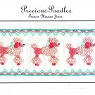 Precious Poodles Frances Messina Jones Smocking Plate Dogs Sewing Smocking design